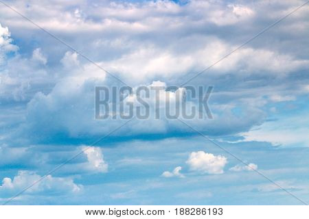 Beautiful clouds on a sunny sky on a summer day