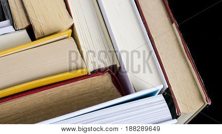 view of a group of book. education. culture.