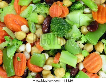 Mixed Vegetable Background