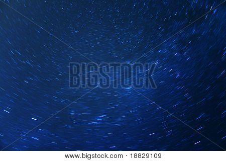 Idyllic night sky full of stars