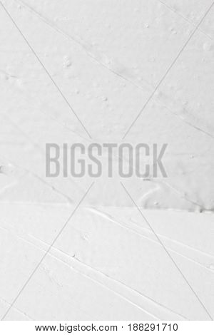 Abstract Background Rough Plaster Corner Repair White Construction Decorative Wet Stucco Concept