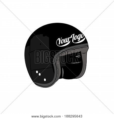 Vector illustration of vintage scooter. Emblems and label. Scooter popular means of transport in a modern city. Advertisements brochures business templates. Isolated on a white background