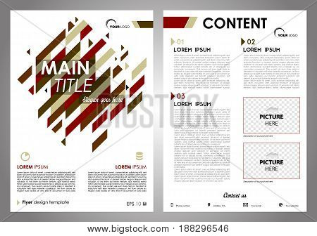 Vector Flyer, Corporate Business, Annual Report, Brochure Design And Cover Presentation With Red And
