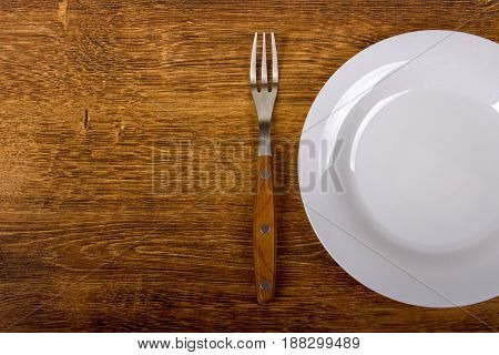 Empty Plate And Fork