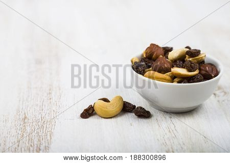 Mixture Of Nuts And Dried Fruits