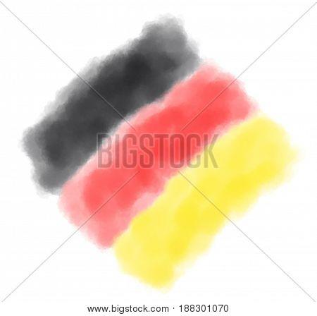 german colors background - watercolor simulation illustration