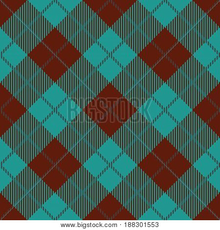 Tartan seamless vector patterns in brown and blue colors