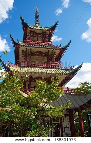 The Chinese Tower In Tivoli Garden.