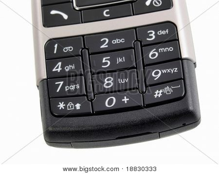 A close up of a phone keypad