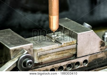 Drilling Machine Working On Mold