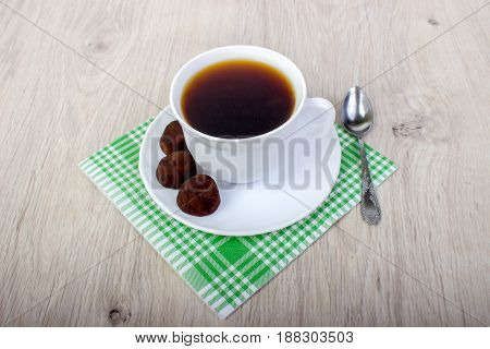Dessert Truffle Cocoa And Coffee Cup