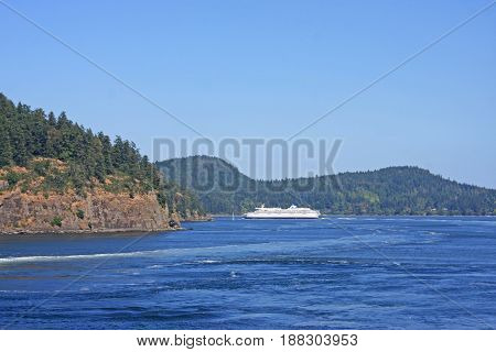 Ferry to the Gulf Islands off Vancouver Island