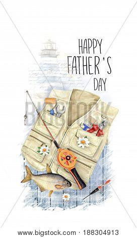 Creative postcard for Happy Father's Day. Can use as a greeting card poster flyer.