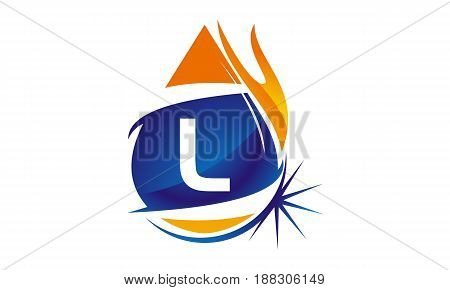 This image describe about Water Fire Flame Gas Oil Initial L