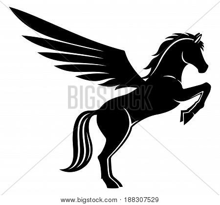 Sign of pegasus on a white background.