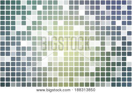Yellow Purple Grey Occasional Opacity Mosaic Over White