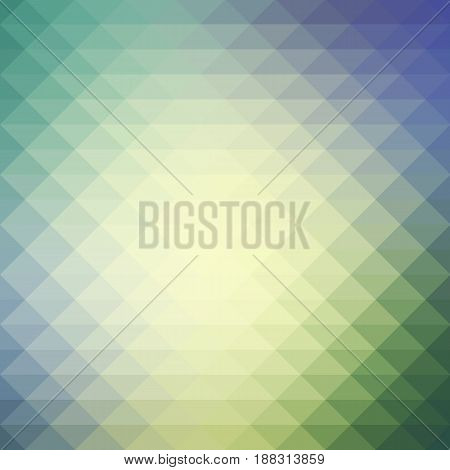 Yellow Purple Grey Rows Of Triangles Background, Square