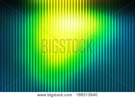 Bright Yellow Green Abstract With Light Lines Blurred Background