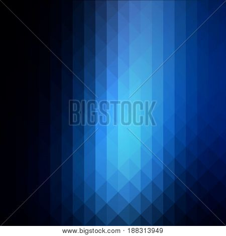 Deep And Pale Blue Rows Of Triangles Background, Square