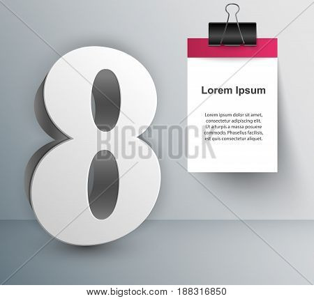 Business infographic design template and marketing icons. Number icon.