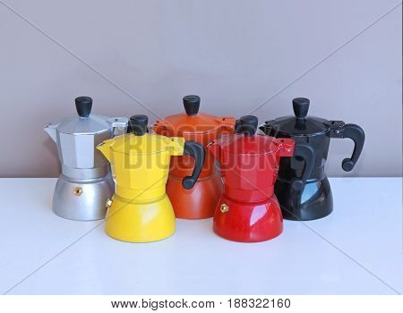 Metal coffee pots for manual brewing to replace large espresso machines