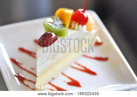 fruit tart or fruit cake fruit cheesecake