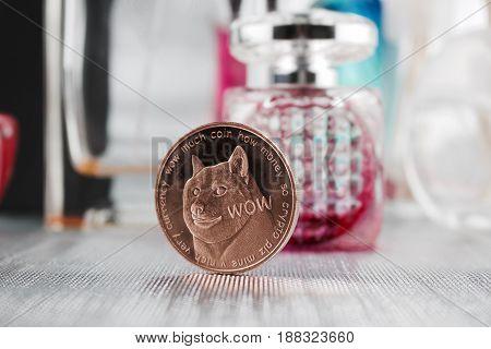 Brass Dogecoin Perfume Concept