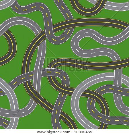 Vektor-Illustration von nahtlosen Kreuzung