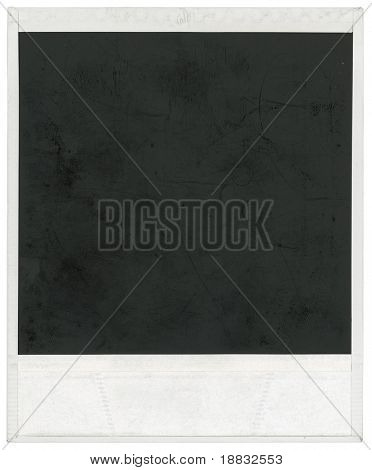 Big scan of instant photo frame isolated inside and outside with clipping path