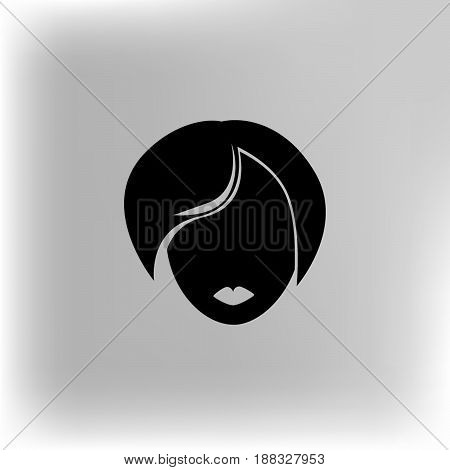 Vector illustration icon women girl on background