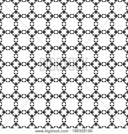 Vector seamless pattern. Modern stylish texture with regularly repetition geometric shapes stars rhombuses triangles.