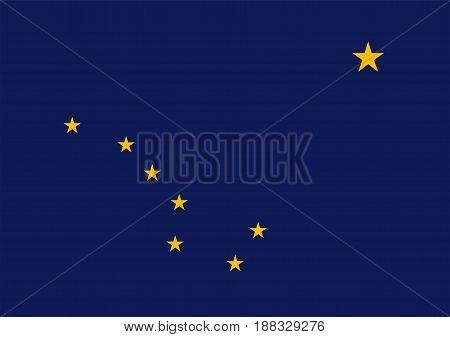 Official symbol Flag of Alaska, vector illustration
