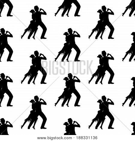 Argentina tango pattern on the white background. Vector illustration