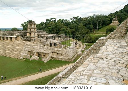 Ruins Of Palenque, Maya City In Chiapas, Mexico