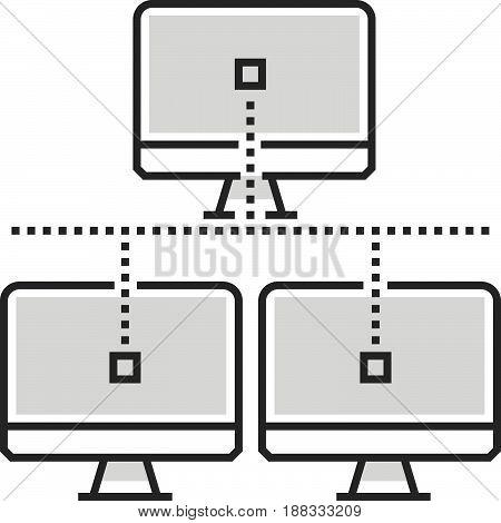 Color Box Icon, Network Illustration, Icon