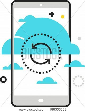 Color Box Icon, Cloud Synchronisation Illustration, Icon