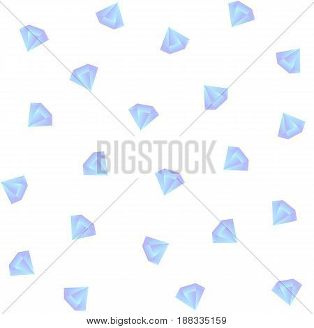 Vector gradient diamond seamless pattern on the white background