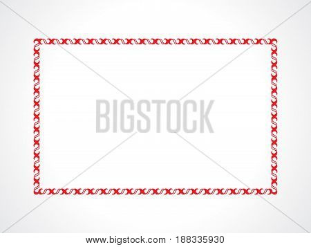 abstract artistic creative red border vector illustration