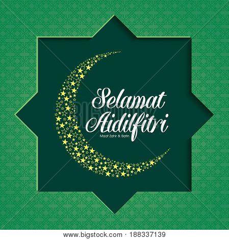 Selamat Hari Raya Aidilfitri illustration. Caption: Fasting Day of Celebration