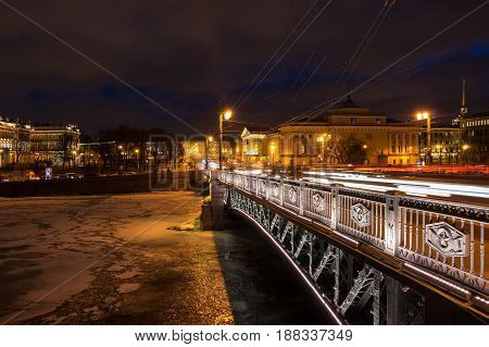 Panoramic view of Neva river and the historical center of Saint Petersburg Russia