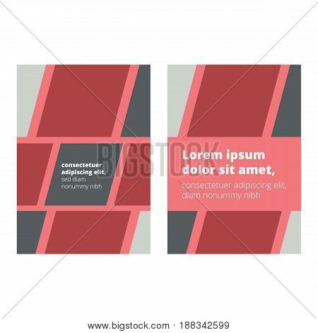 Book Cover Page design with abstract elements and sample text