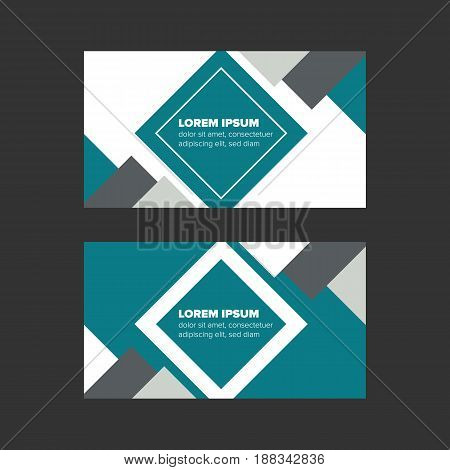 double side minimalist style business card with decorative elements
