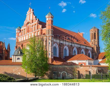 Church Of St. Francis And St. Bernard, Vilnius, Lithuania.