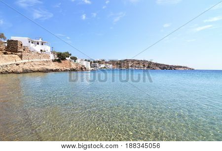 Faros beach at Sifnos island Cyclades Greece
