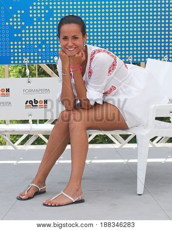 Giffoni Valle Piana Sa Italy - July 19 2011 : Michela Coppa at Giffoni Film Festival 2011 - on July 19 2011 in Giffoni Valle Piana Italy