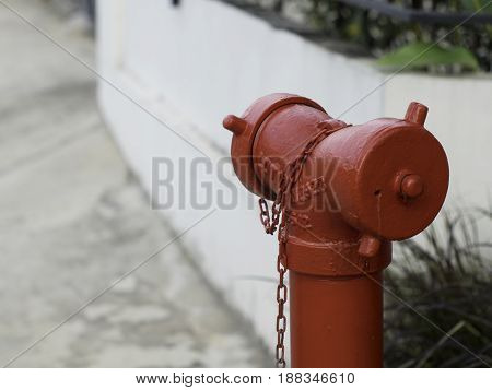 The fire faucet in the village in thailand.