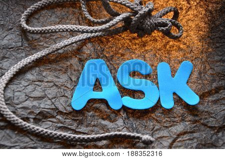 word ask on a  abstract co,orful background