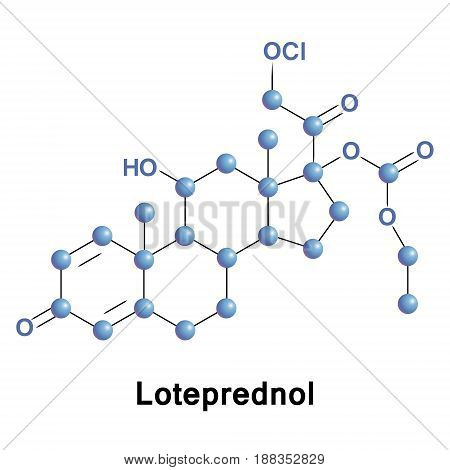 Loteprednol, as the ester loteprednol etabonate, is a corticosteroid used to treat inflammations of the eye