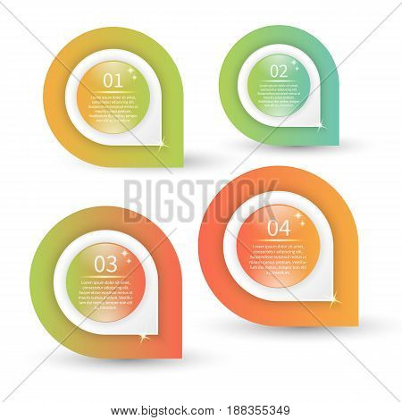 Vector infographic template. Colorfull concept on the white background.