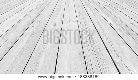 Background of light wooden planks painted with environmentally friendly color in perspective